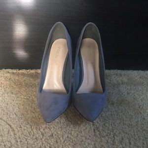 Navy suede pumps from ShoeDazzle!